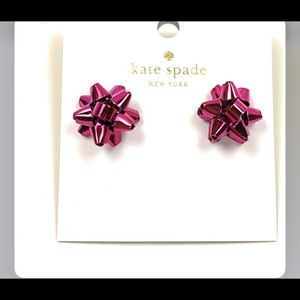 Kate spade bourgeoisie pink bow new earring stud!